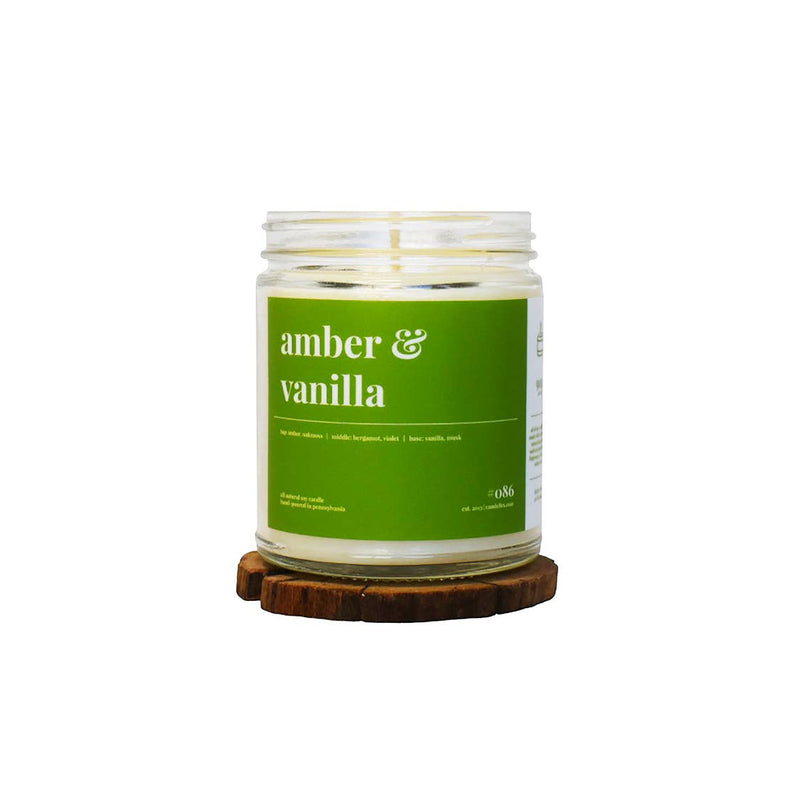 Amber & Vanilla Soy Candle