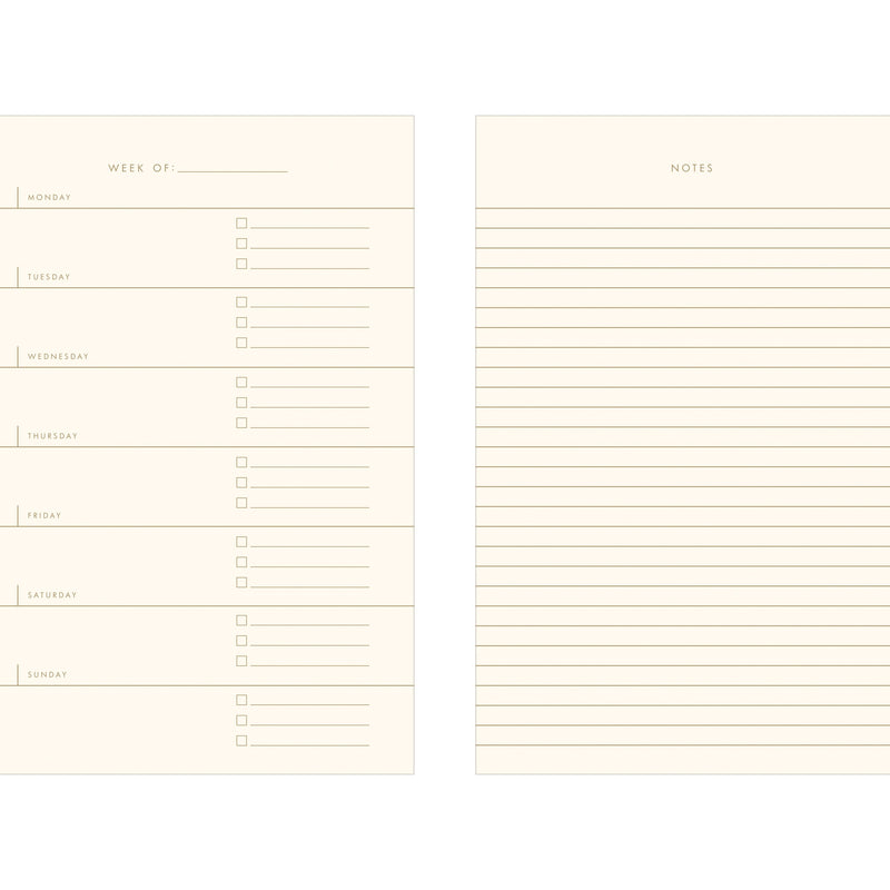 Simple Weekly Planner Notebook