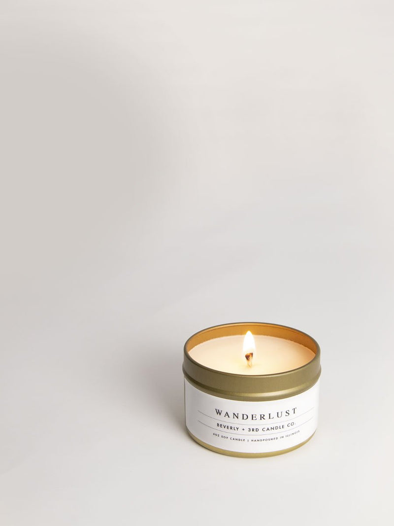 Wanderlust Travel Tin - Soy Candle
