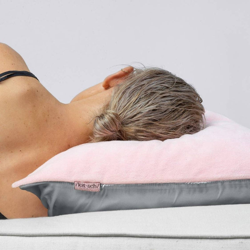 Towel Pillow Cover - Blush