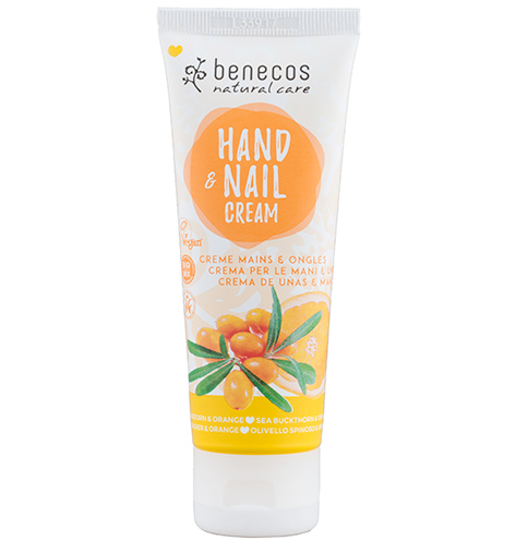 Benecos Hand and Nail Cream - Sea Buckthorn and Orange - 75ml