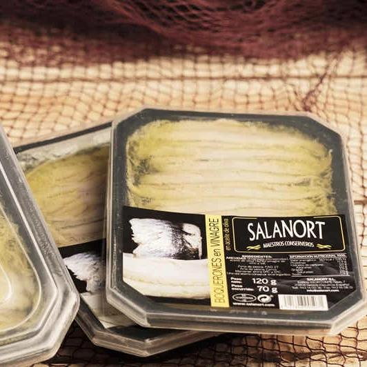 Two trays of Salanort Anchovies Marinated 120g.