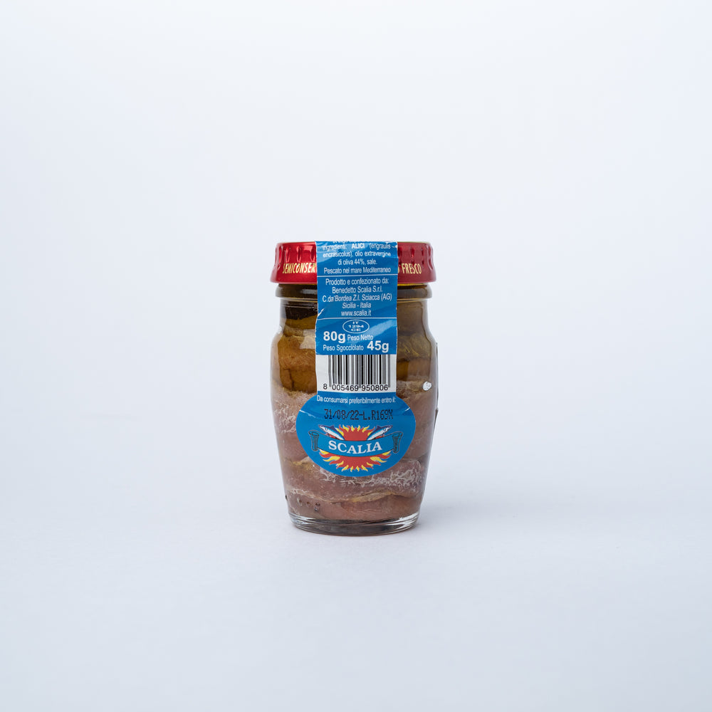 Scalia Anchovy Fillets in Olive Oil 80g