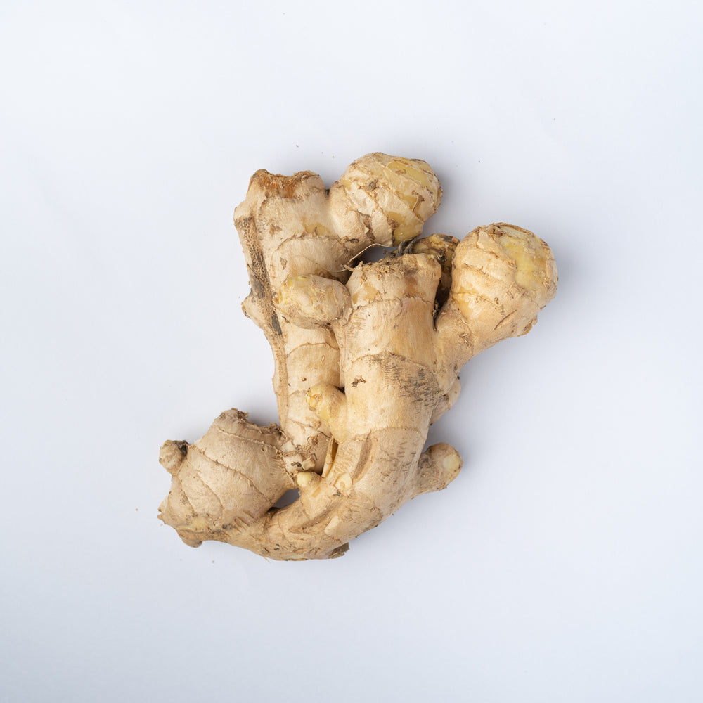 A knobbly bit of ginger about the size of a hand.