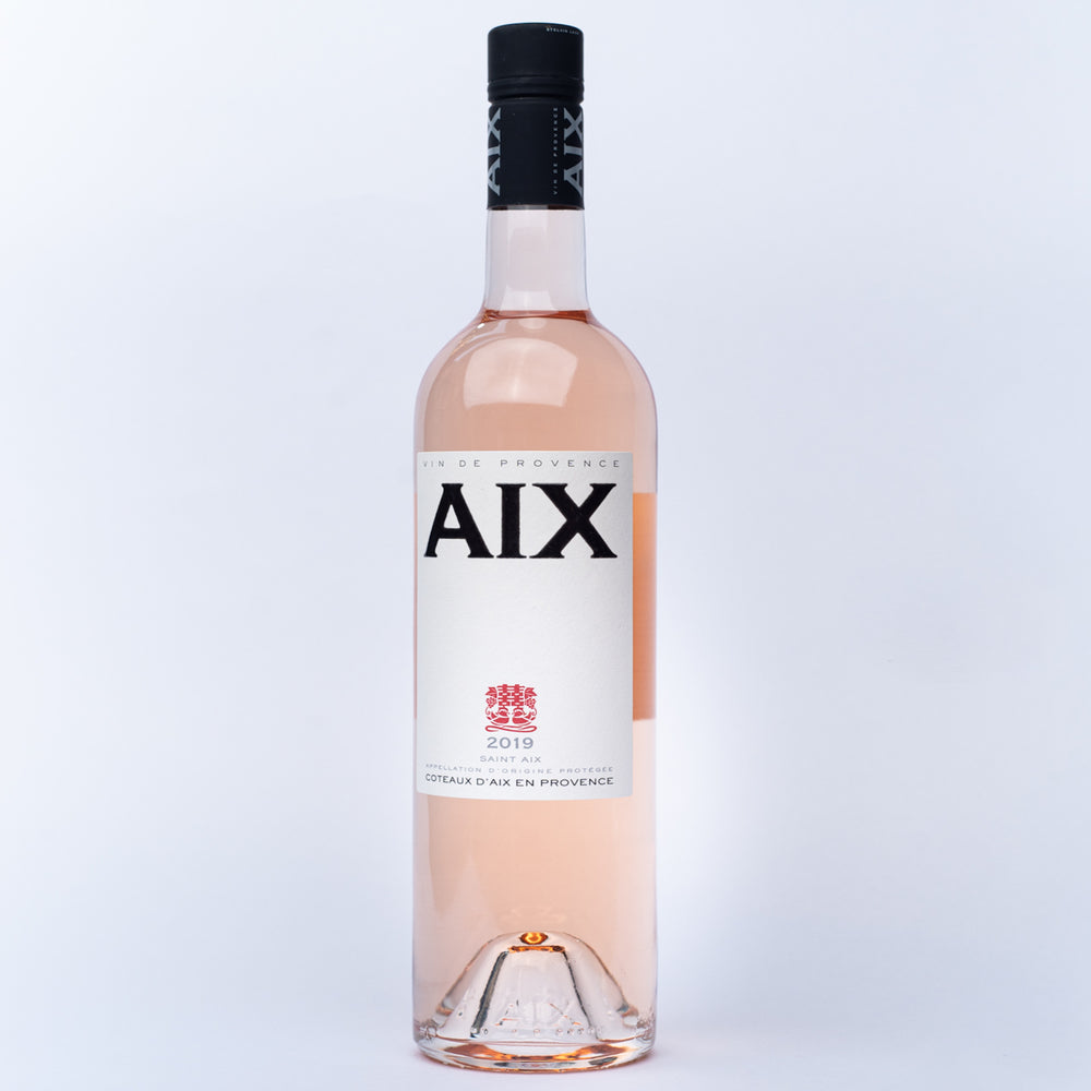 a 750ml bottle of Aix en Provence rose wine.