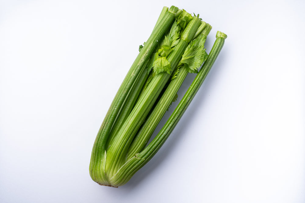 A bunch of celery.