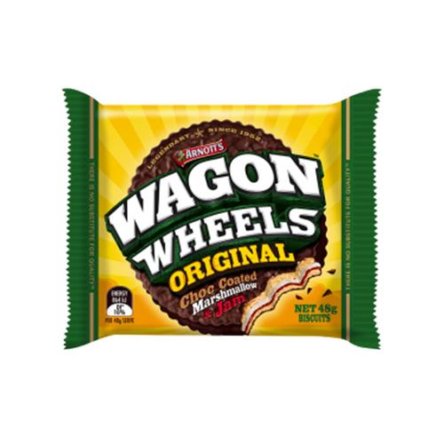 a packet with one Arnott's Wagon Wheel