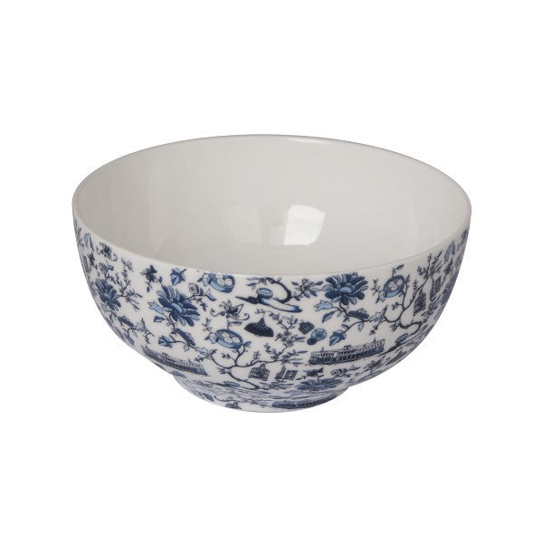 Faux Noodle Bowl (Pair) (Blue)
