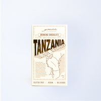 A box of Grounded Pleasures Drinking Chocolate Tanzania.