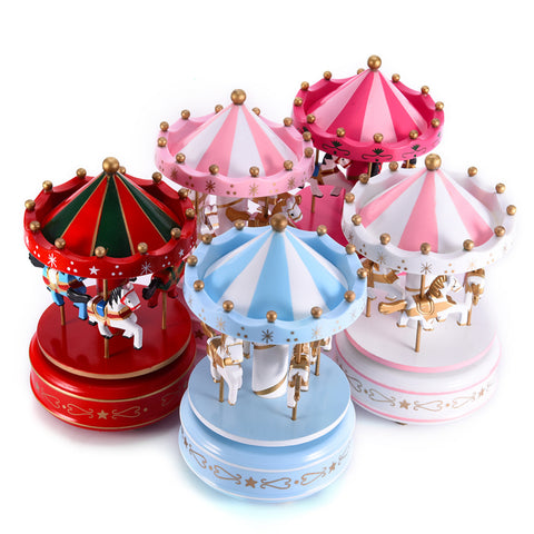 Carousel Music Box - Gifts On The Tree