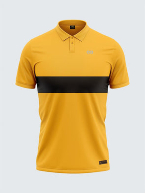 Mars Dry Fit Men's Polo T-Shirt Yellow & Black - 1843YW - Sportsqvest