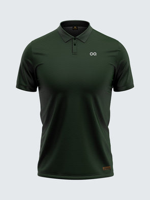 Men's Dark Grey Two-Tone Active Polo T-shirt - 1866GY