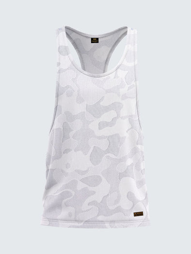 Men's Camouflage Light Racerback Vest White - 1867WH