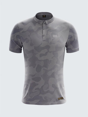 Men's Camouflage Light Polo T-Shirt Thin Collar Light Grey - 1875LG