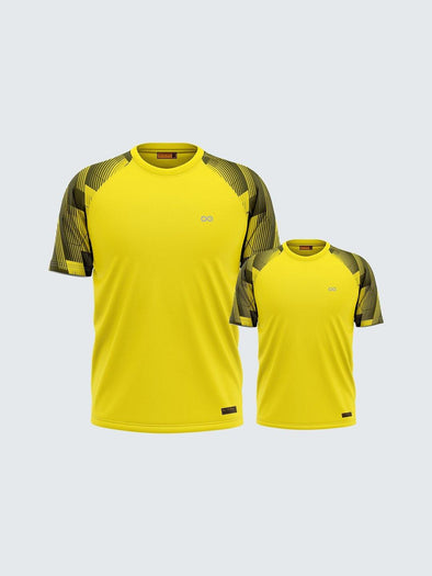 Customise Twinning Printed Yellow Raglan Sleeve T-shirt - 1893YW_TW - Sportsqvest