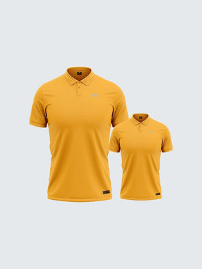 Customise Twinning Mars Dry Fit Polo T-Shirt Yellow - 1895YW_TW - Sportsqvest