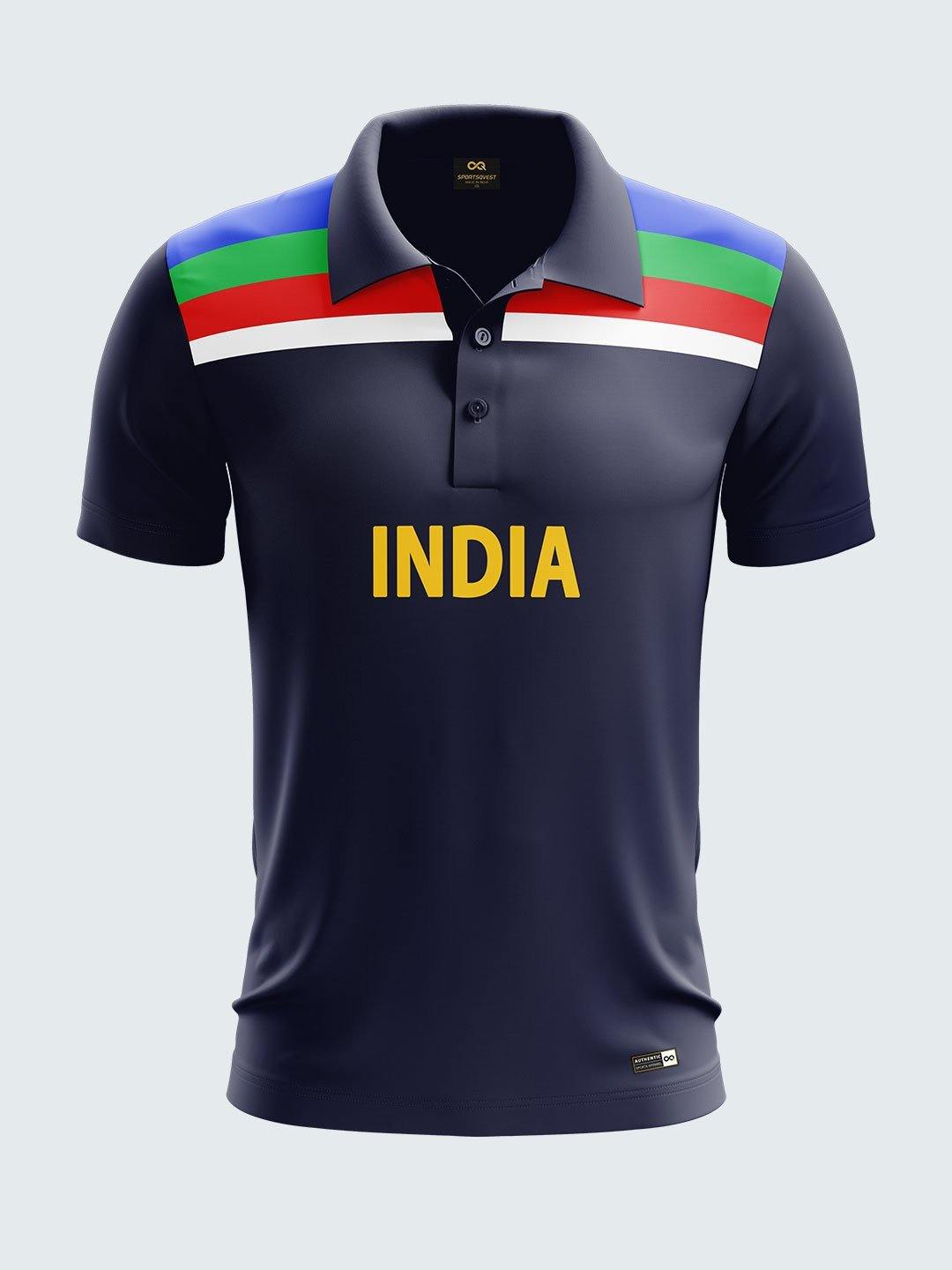 huge selection of 898f3 96c4b 1992 India Retro World Cup Fan Jersey Printed Polo T-shirt ...