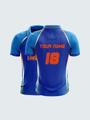 Customise 2019 India Cricket Fan Jersey Printed Polo T-shirt-CIN1026