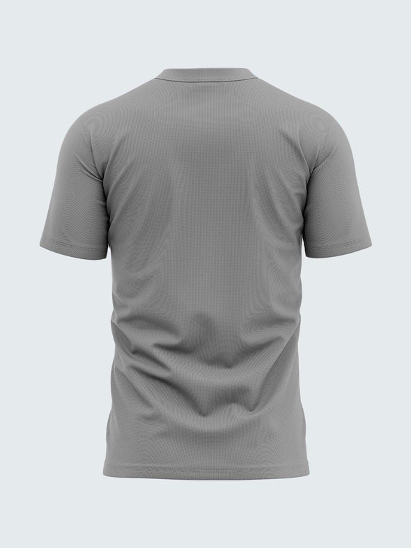 Men Grey Round Neck  Self-Design T-shirt-A10109GY