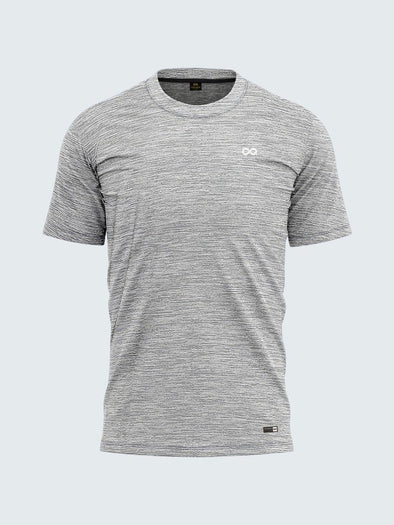 Men Grey Round Neck Self-Design T-shirt-A10121GY