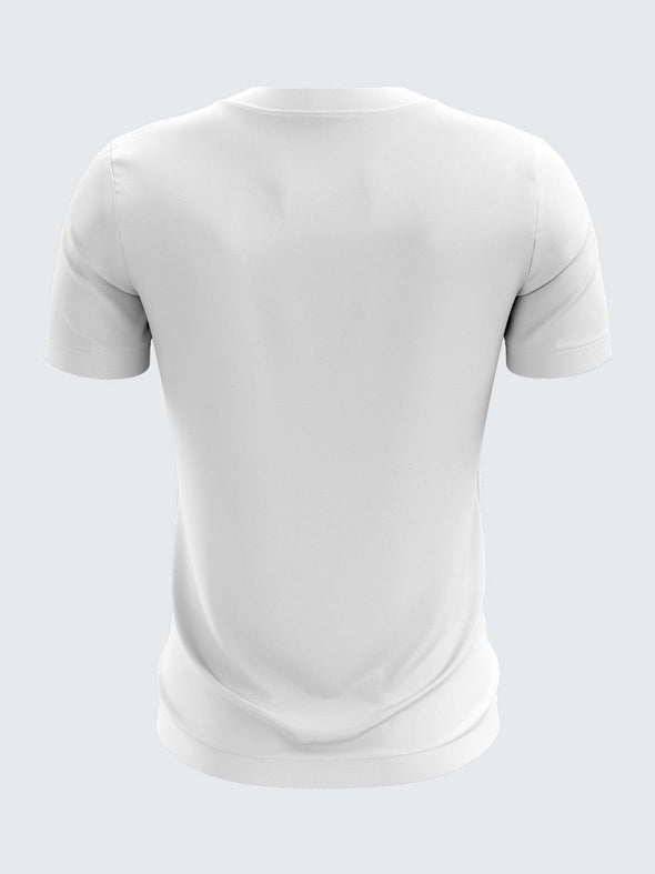 Gully Cricket White Round Neck T-Shirt-1737WH - Sportsqvest