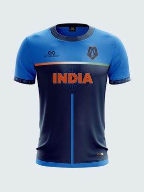 2019 India Cricket Fan Jersey Round Neck T-Shirt-IN1027 - Sportsqvest