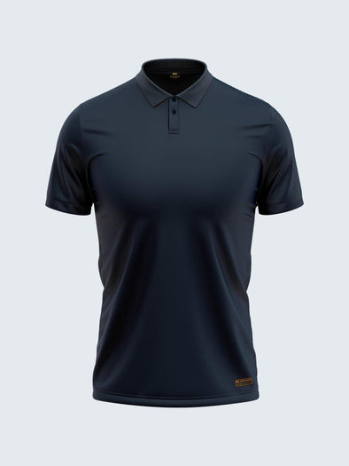 Regular Navy Blue Polo 2-Button - CS9013 - Sportsqvest