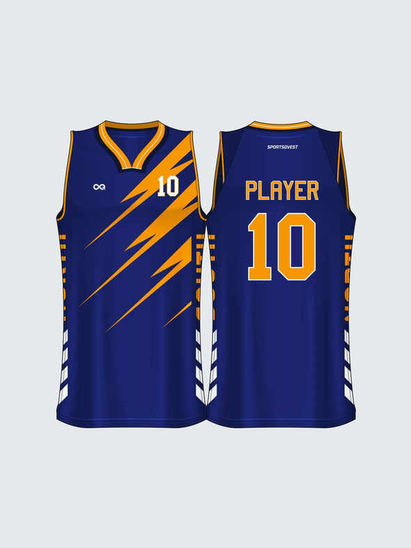 Custom Striped Basketball Jersey-BT1014