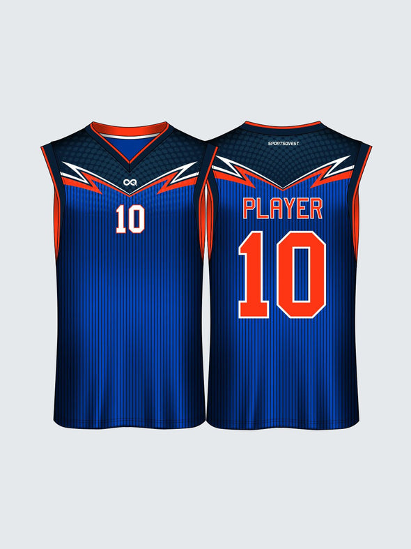 Custom Striped Basketball Jersey-BT1016