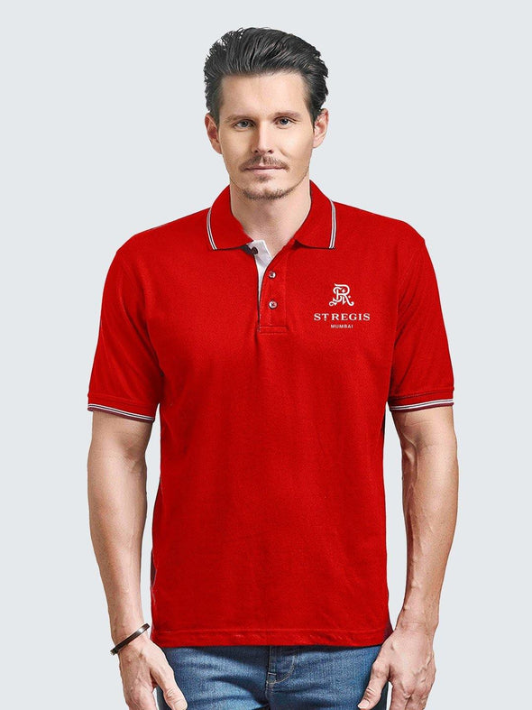 Custom Corporate Double Tipping Polo