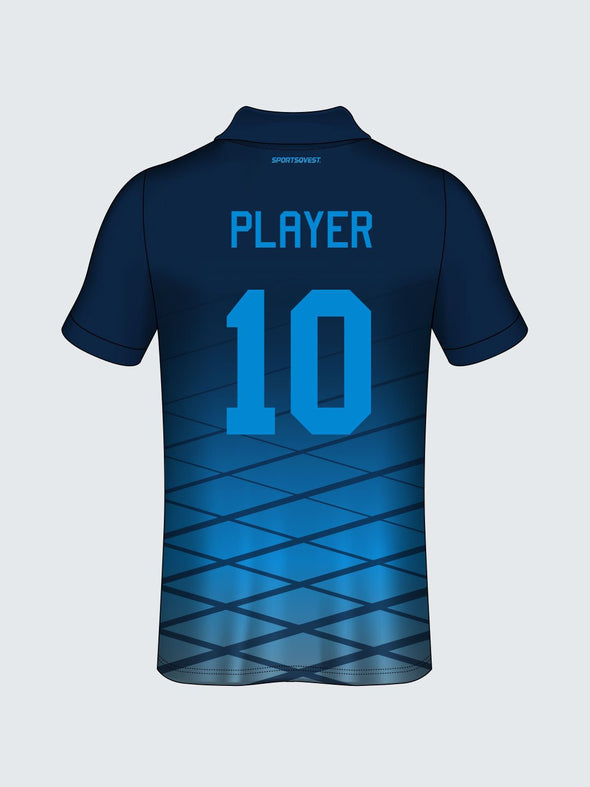 Customise Polo Geometric Cricket Jersey-CT1002