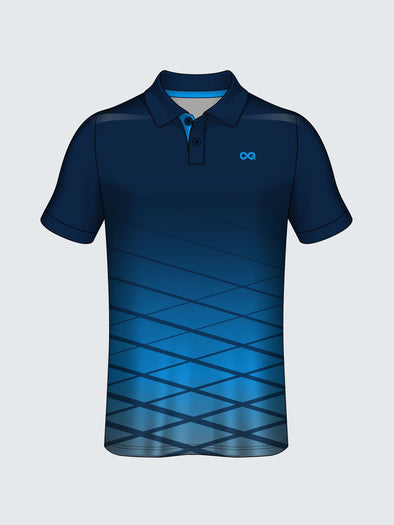 Customise Polo Geometric Cricket Jersey Design 1