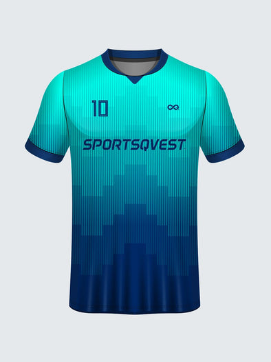 Customise Polo Geometric Cricket Jersey Design 2