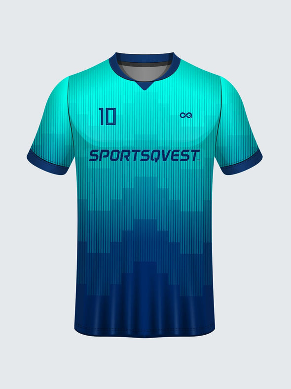 Customise Polo Geometric Cricket Jersey-CT1003