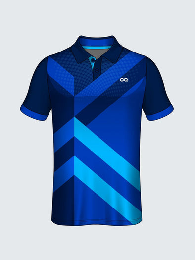 Customise Polo Geometric Cricket Jersey Design 3