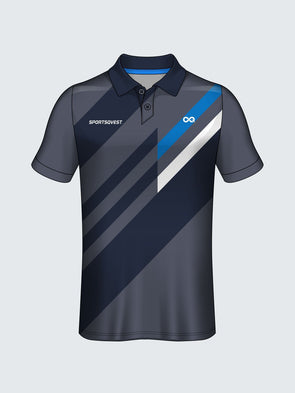 Customise Polo Geometric Cricket Jersey Design 4