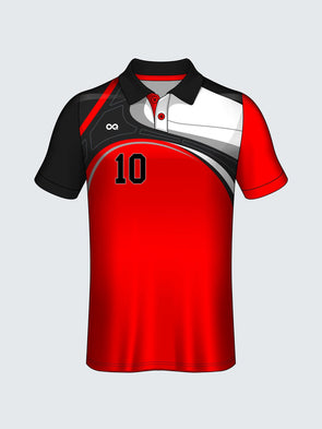 Customise Polo Self Design Cricket Jersey-CT1010