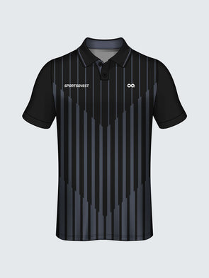 Customise Polo Striped Cricket Jersey-CT1009