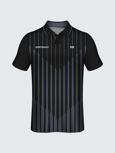 Customise Polo Striped Cricket Jersey Design 1