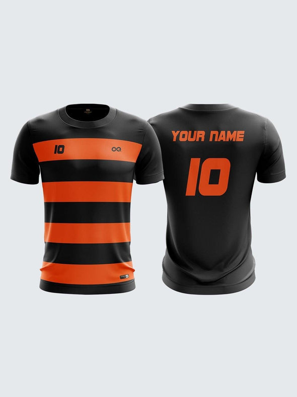 Men Orange Printed Cricket Jersey Sportsqvest