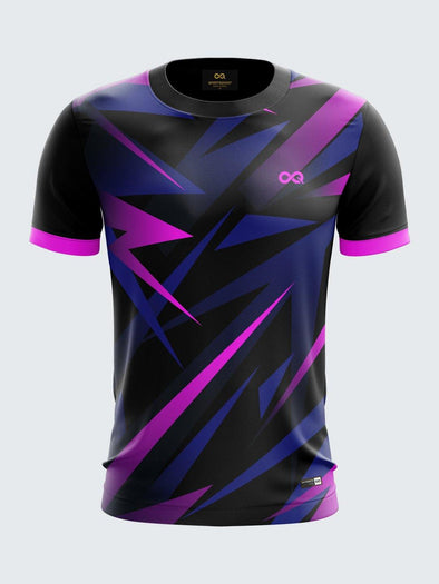 Men MultiColour Printed Round Neck Sports Jersey-1395PK