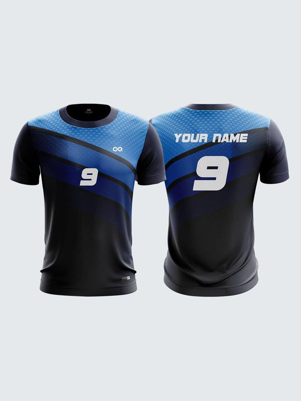 Men Navy Blue Printed Cricket Jersey Sportsqvest