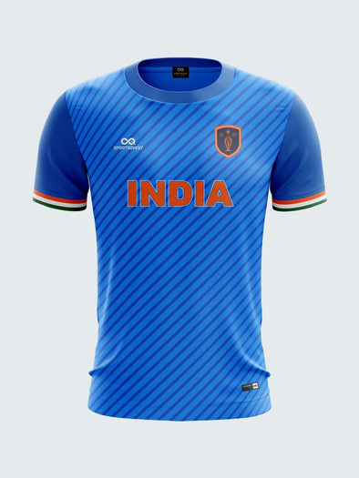 T20 India Blue Round Neck Concept Fan Jersey-IN1038 - Sportsqvest