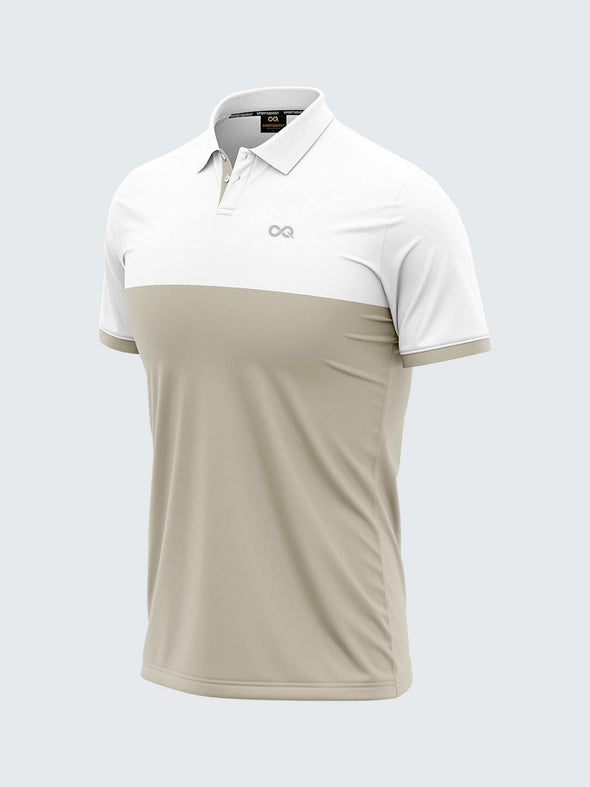 Mars Dry Fit Men's Polo T-Shirt White & Steel - 1840AL