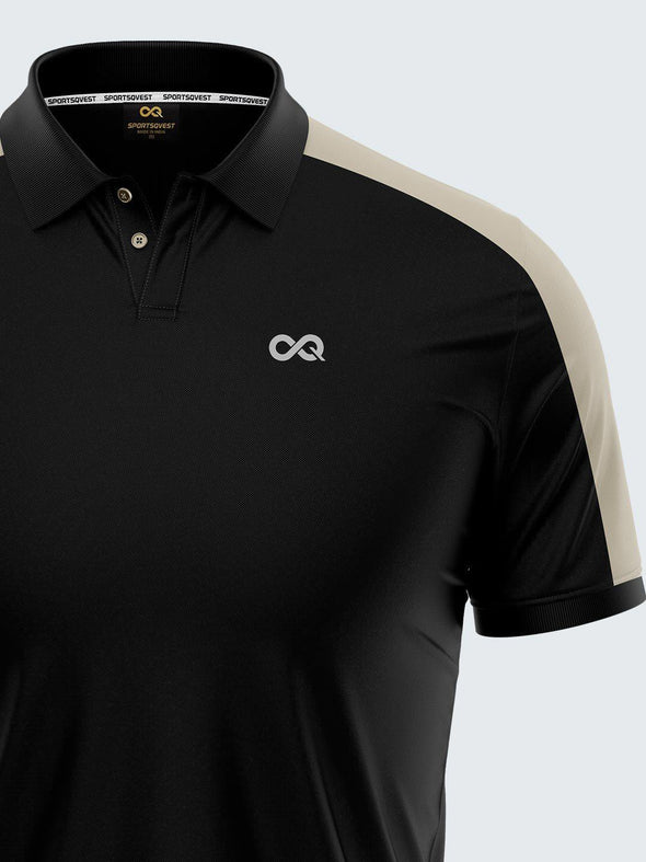 Mars Dry Fit Men's Polo T-Shirt Black - 1841BK - Sportsqvest