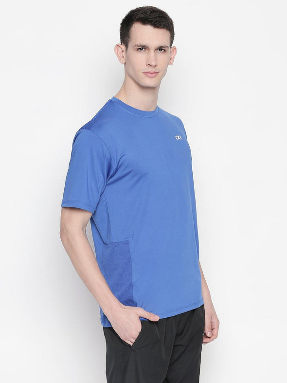 Men Royal Blue Round Neck Solid T-shirt-A10120RB