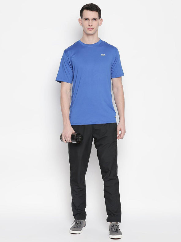 Men Royal Blue Round Neck Solid T-shirt-A10120RB - Sportsqvest