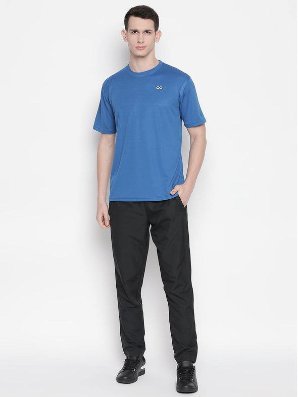 Men Royal Blue Round Neck Solid T-shirt-A10129RB - Sportsqvest