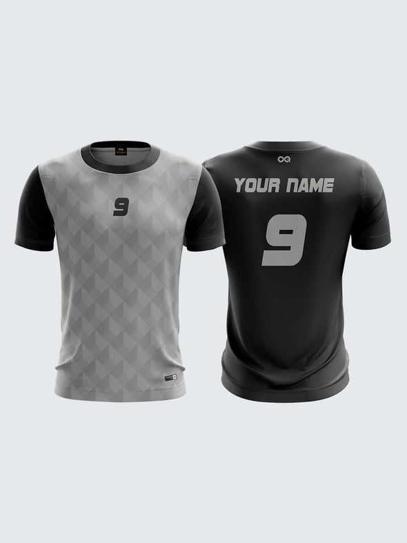 Men Grey Printed Cricket Jersey Sportsqvest