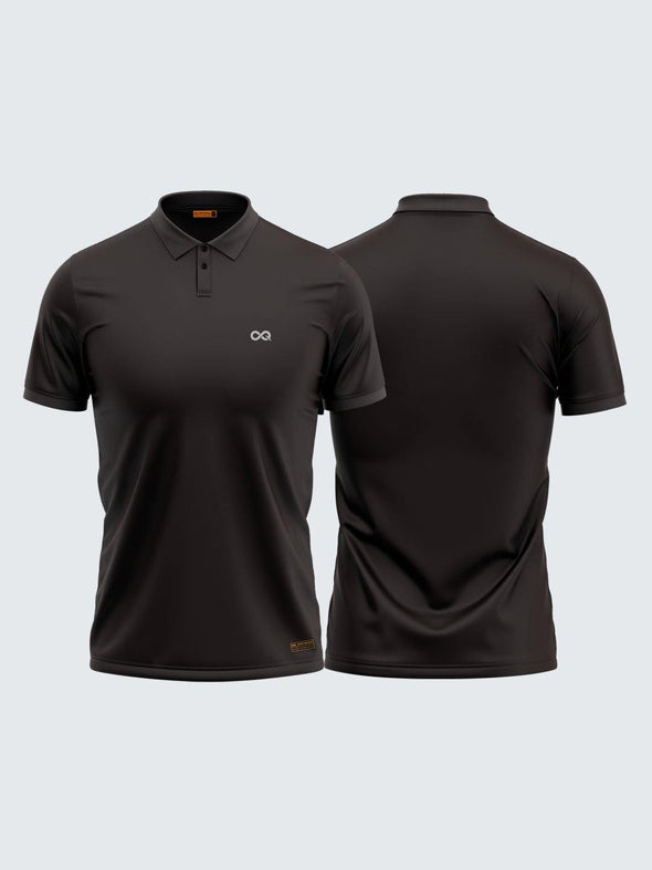 Men Polo Grey Solid T-shirt-1706GY